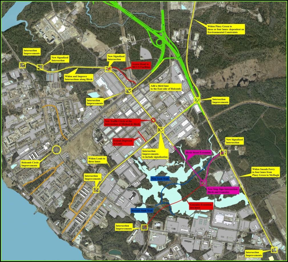 Camp Lejeune Base Map