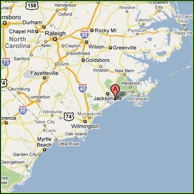 Camp Lejeune Map Of Jacksonville North Carolina