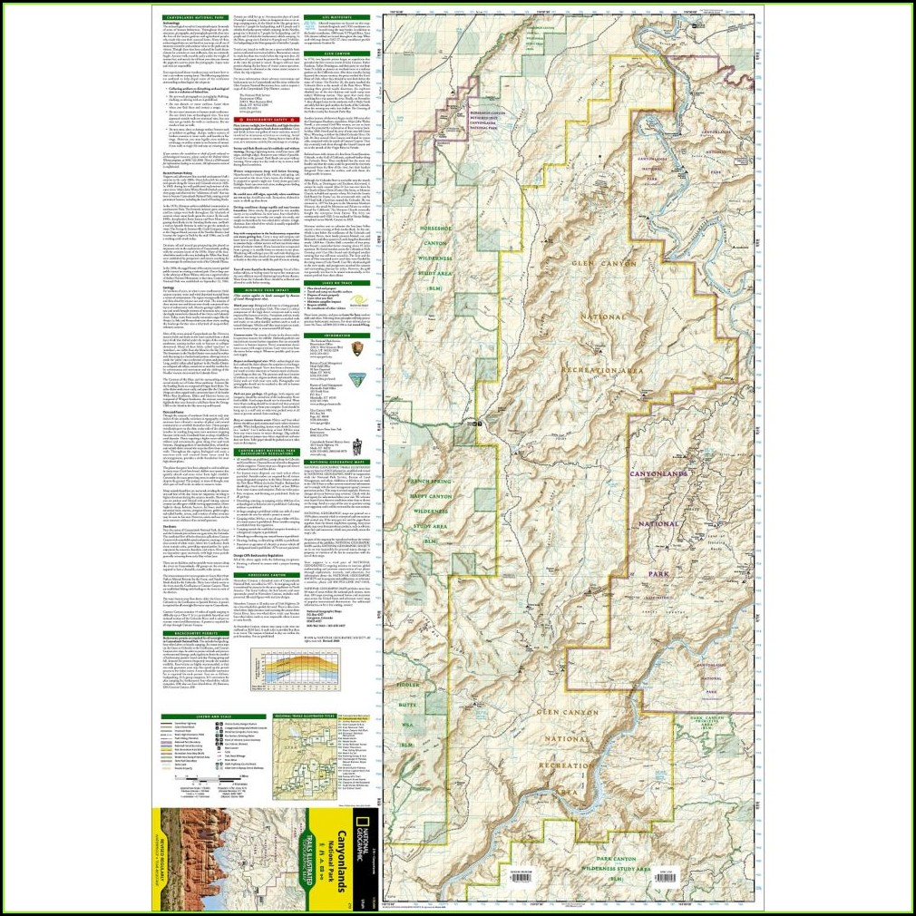 Canyonlands National Park Trail Map