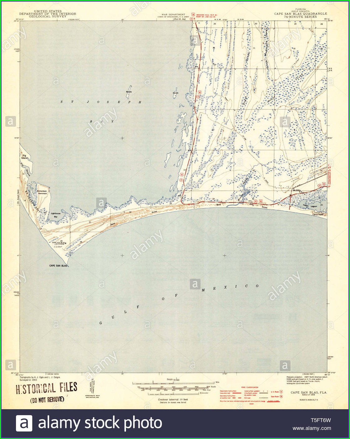 Cape San Blas Map
