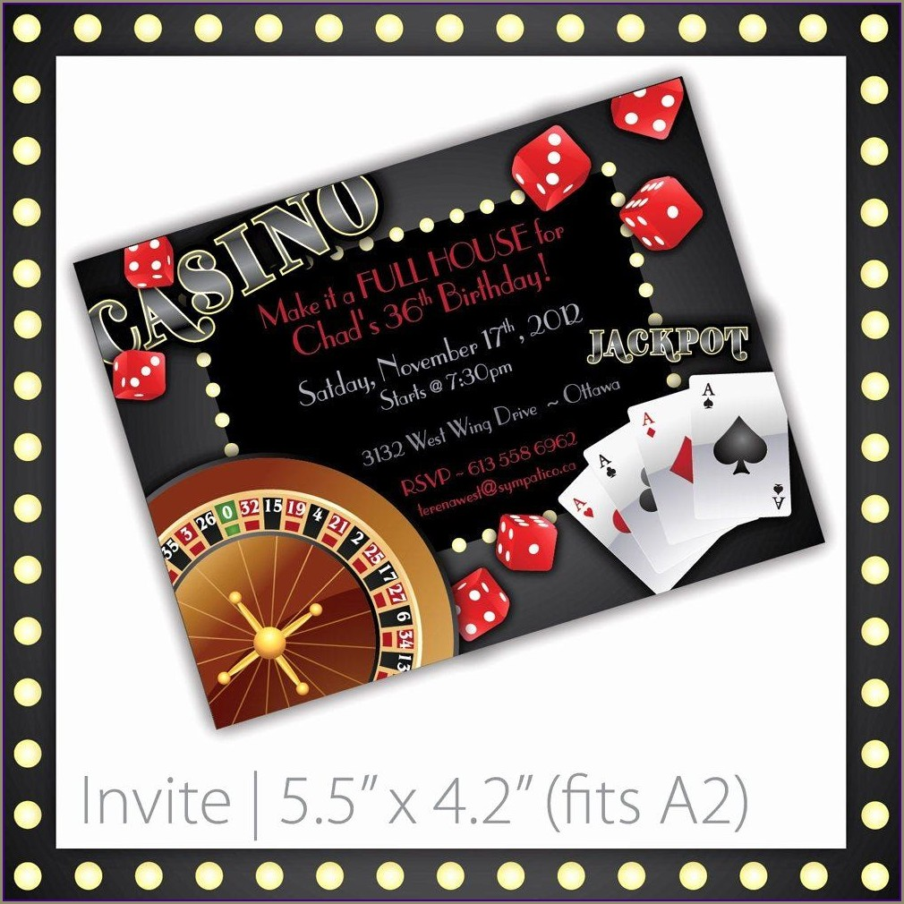 Casino Invitation Template Free