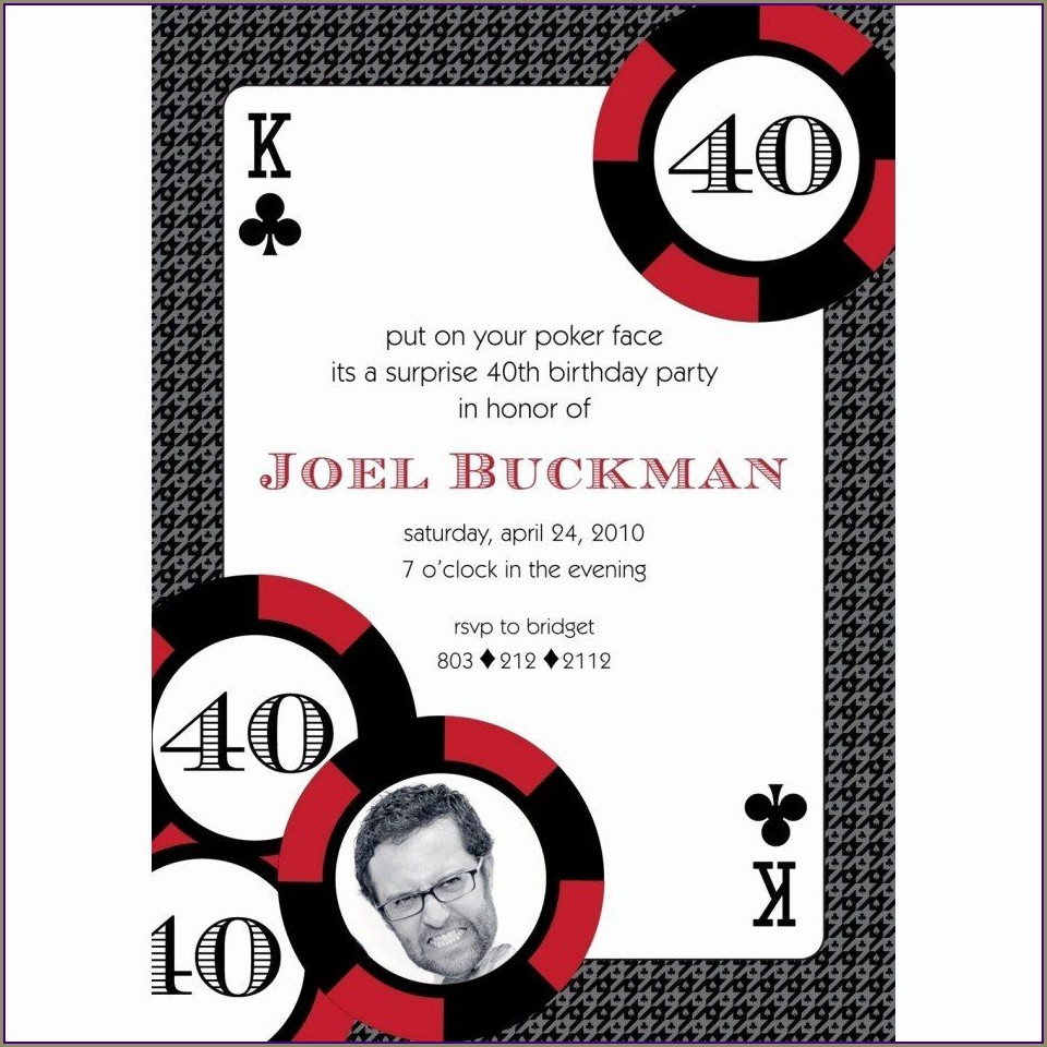 Casino Invitations Free Templates
