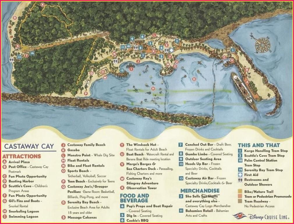 Castaway Cay Map 2019