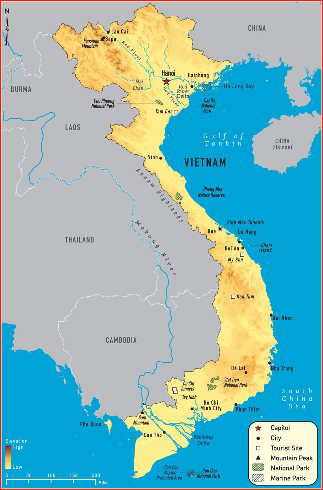 Cdc Malaria Map Vietnam