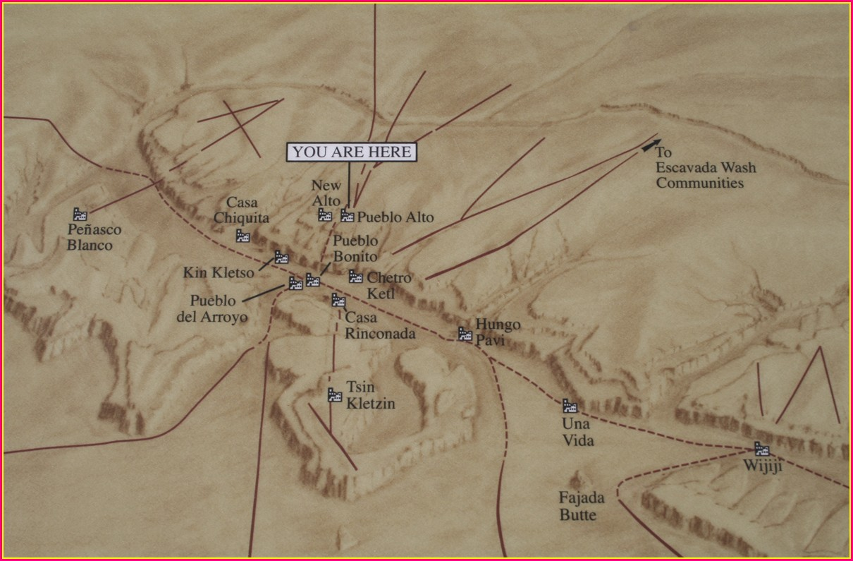 Chaco Canyon Map Ruins