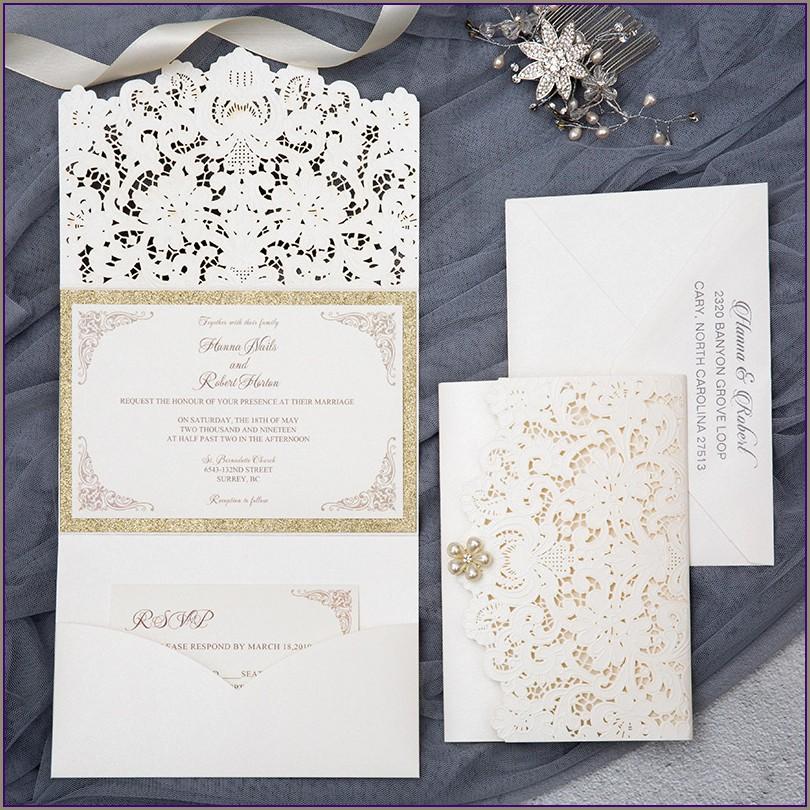 Champagne Gold Wedding Invitations