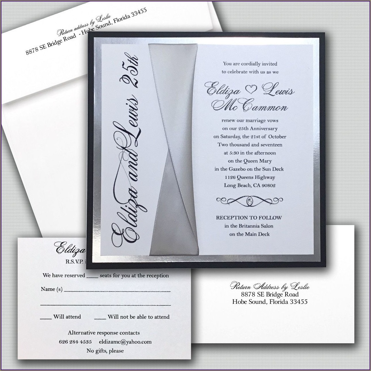 Classic Romantic Wedding Invitations