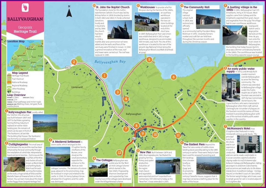 Cliffs Of Moher Trail Map