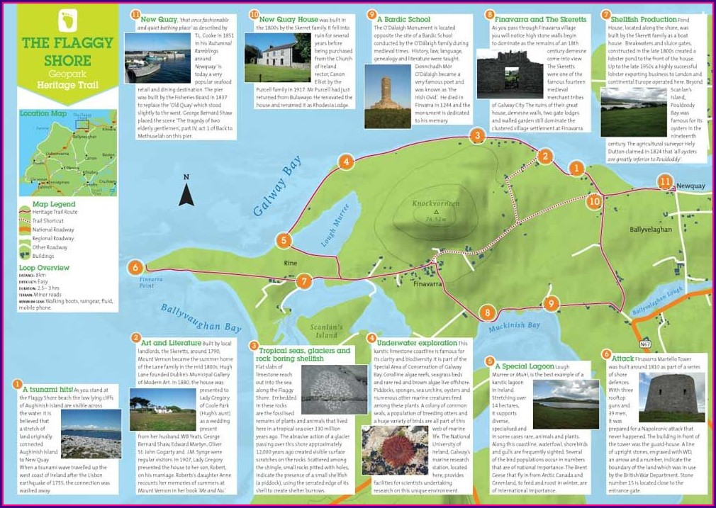 Cliffs Of Moher Walking Trail Map