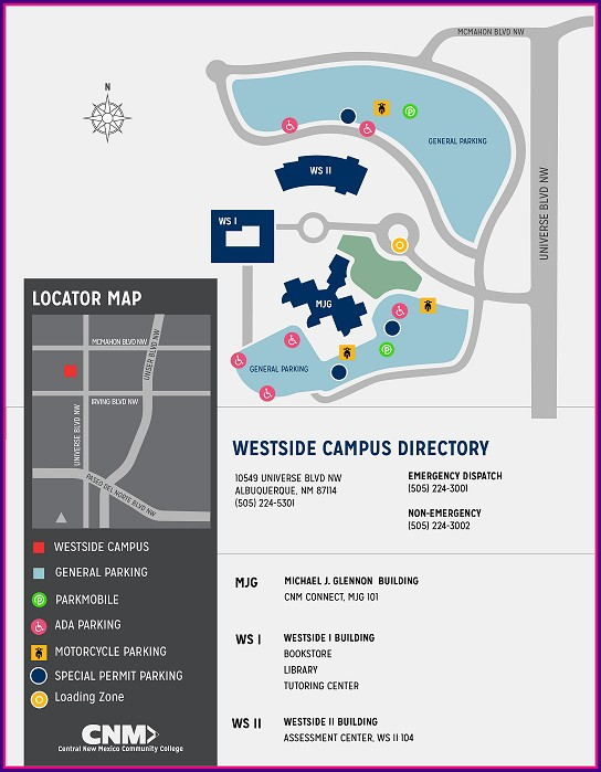 Cnm Main Campus Map