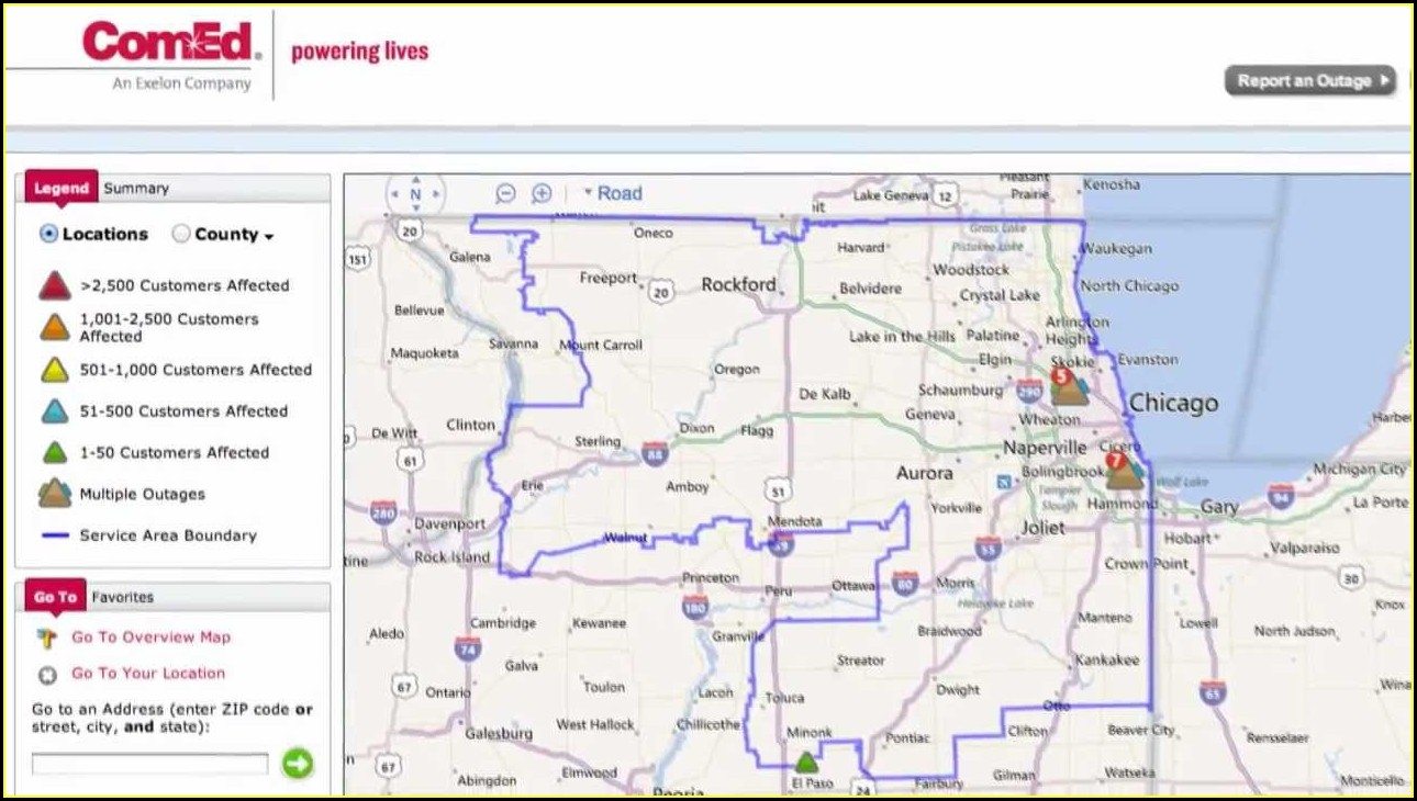 Comed Outage Map Chicago