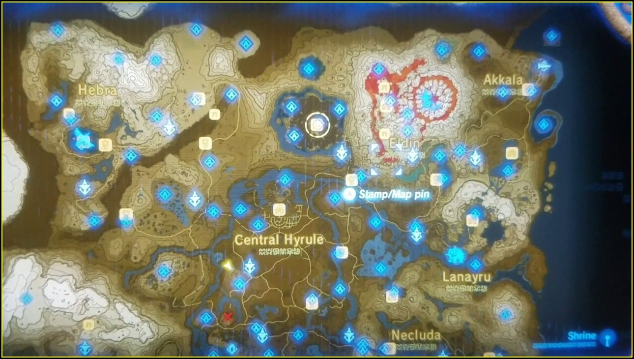 Complete Breath Of The Wild Shrine Locations Map
