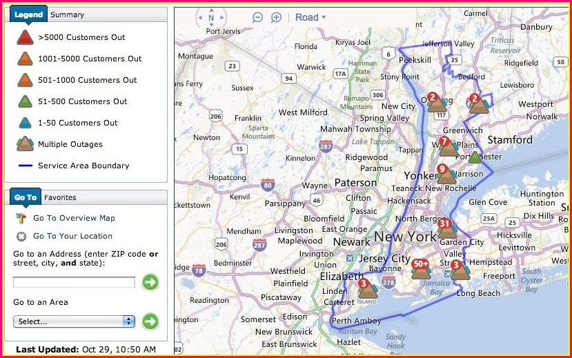 Con Edison Outage Map Nyc