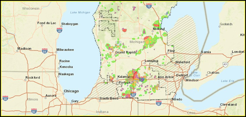 Consumers Energy Outage Map Michigan