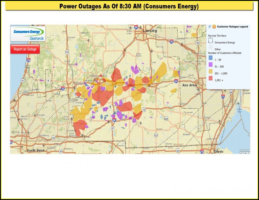Consumers Power Outage Map Oregon