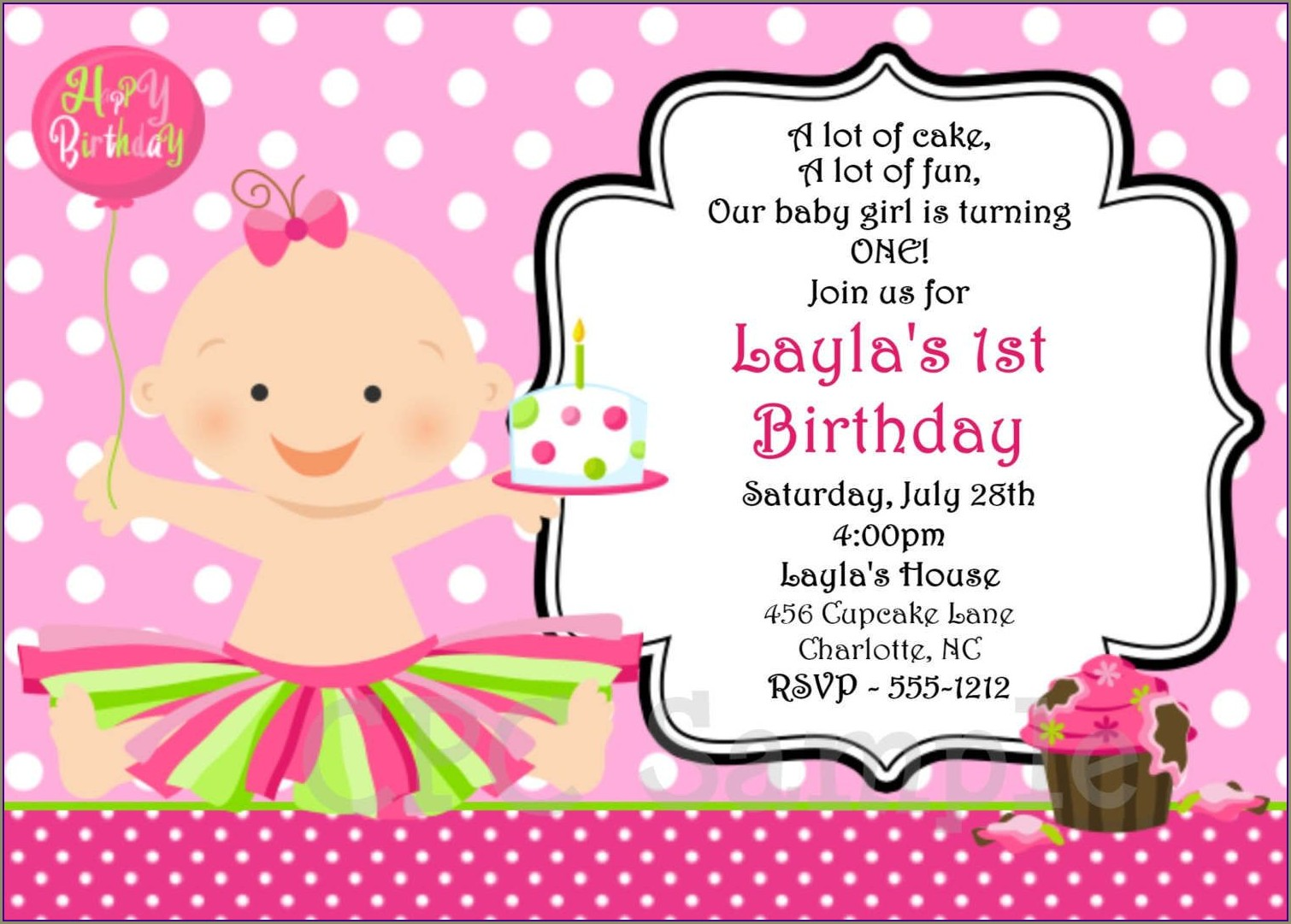 Create Baby Birthday Invitation Card Online Free