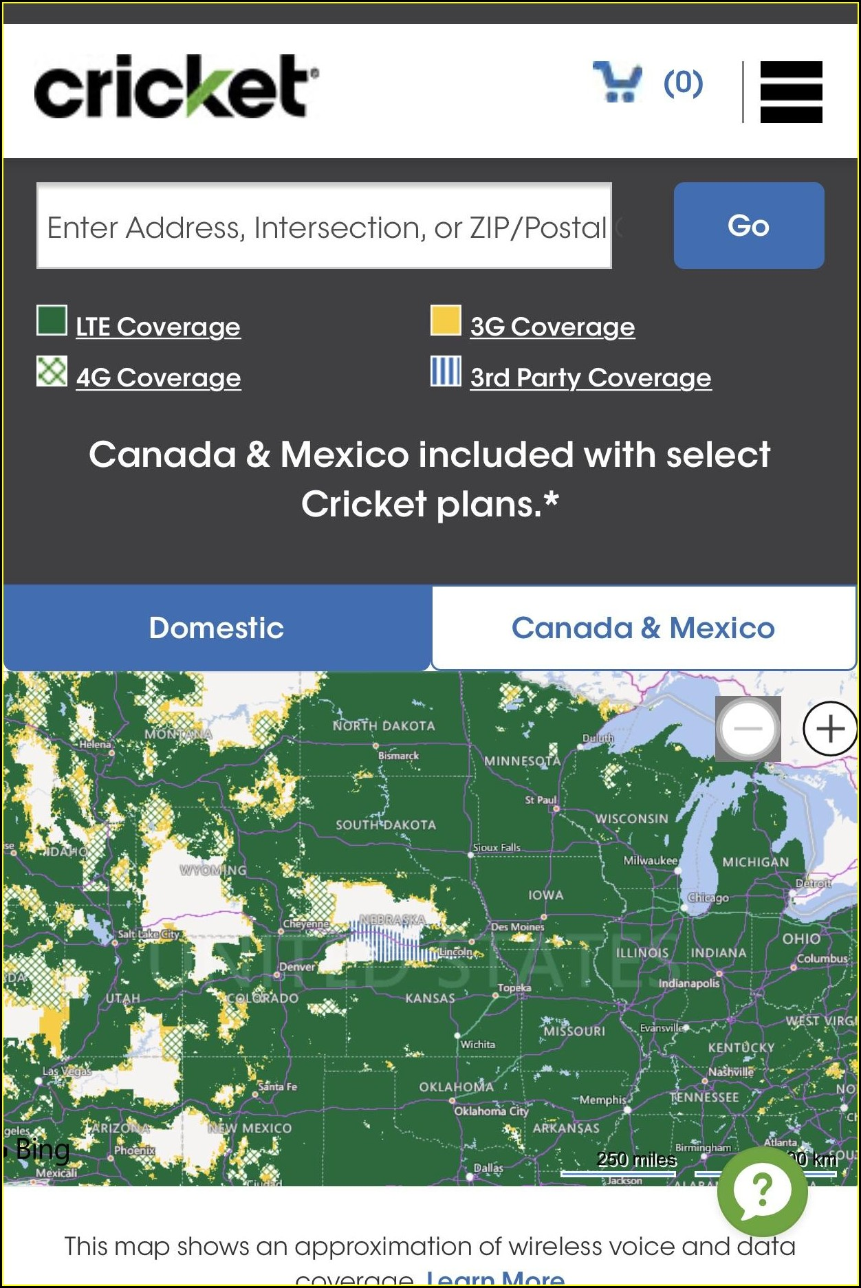 Cricket Wireless Coverage Map Mexico
