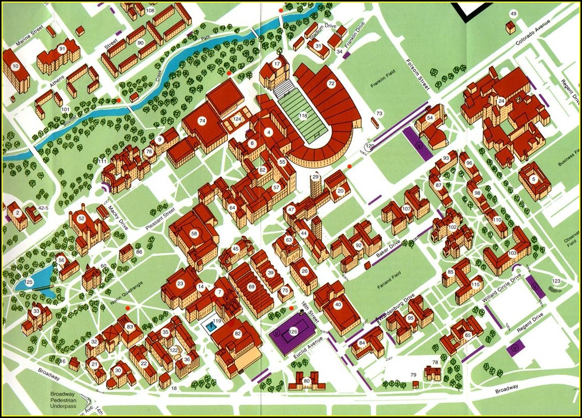 Cu Boulder Campus Map Printable