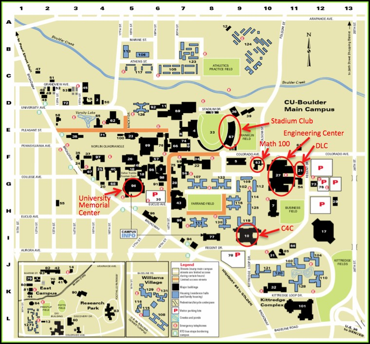 Cu Boulder Engineering Center Map