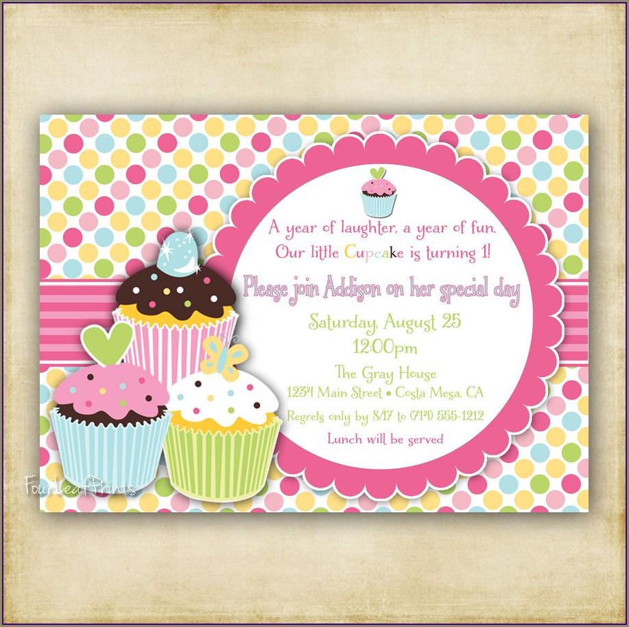 Cupcake Birthday Invitation Template