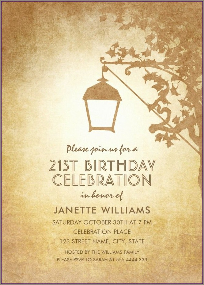 Custom 21st Birthday Invitations