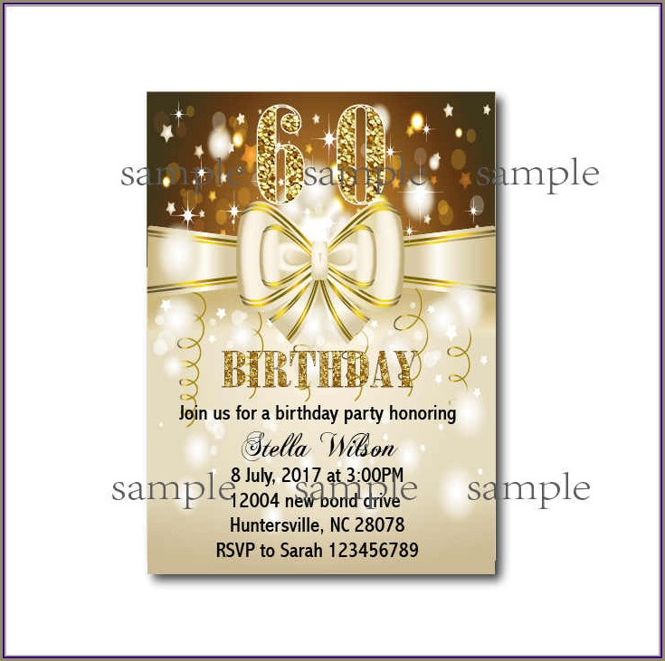 Custom 60th Birthday Invitations