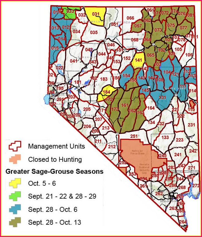 Deer Nevada Hunt Unit Map