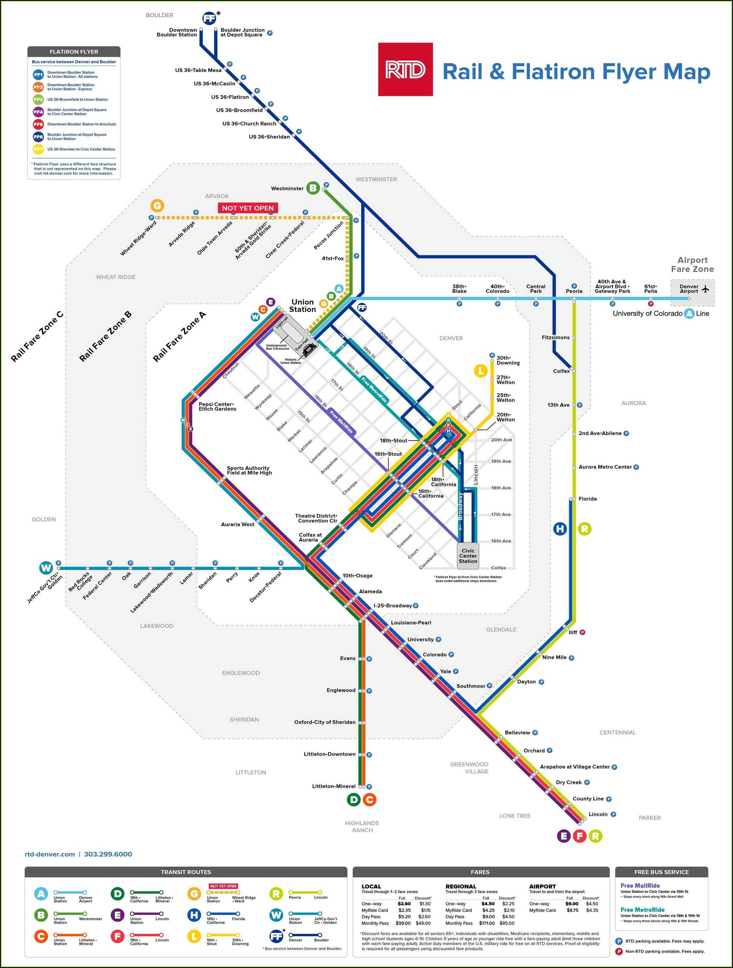 Denver Rtd Light Rail Map
