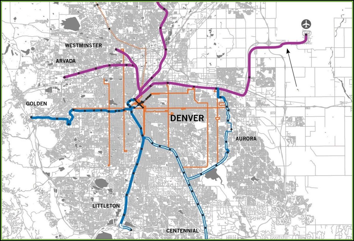 Denver Rtd Train Map