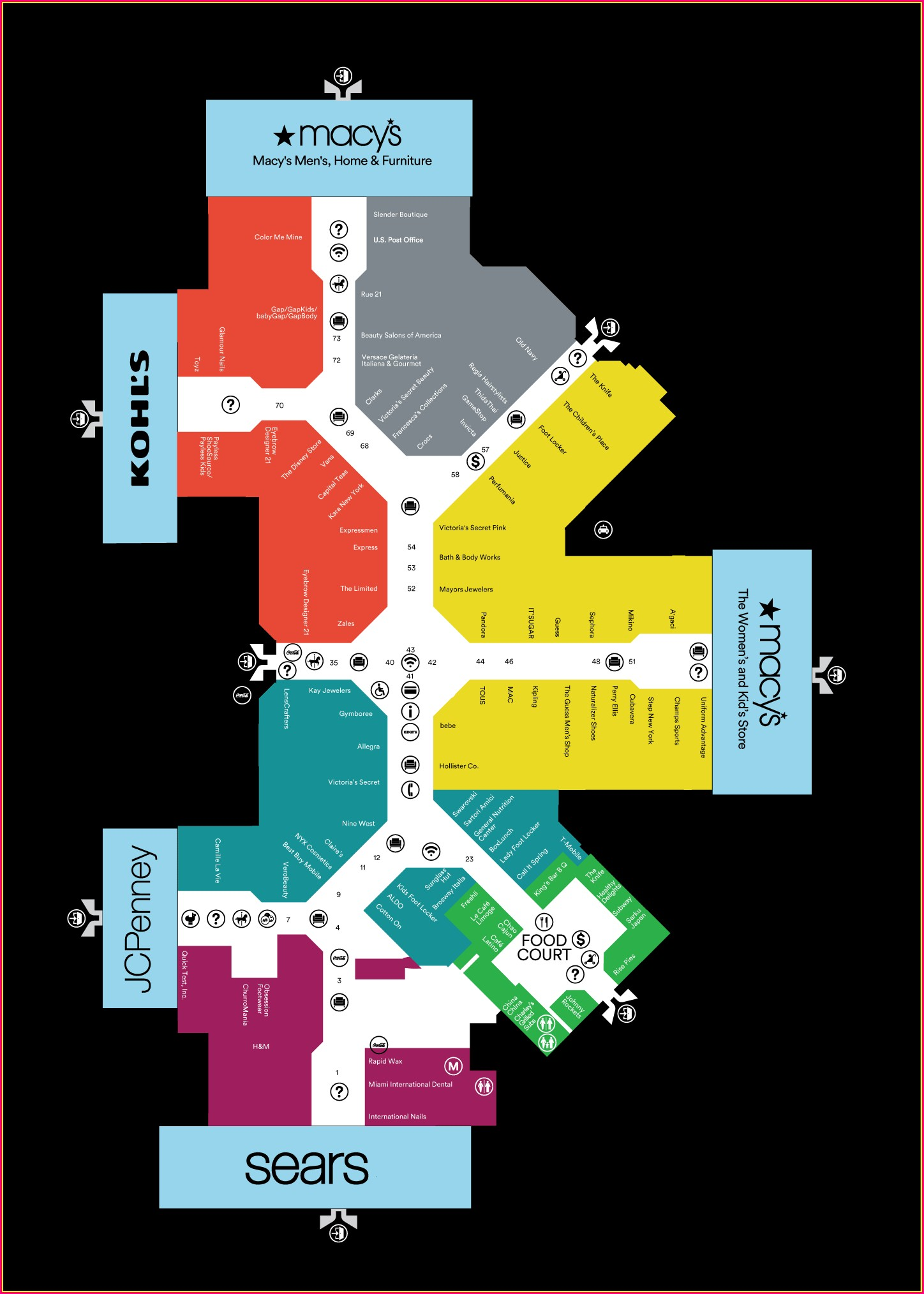 Directory Pembroke Lakes Mall Map