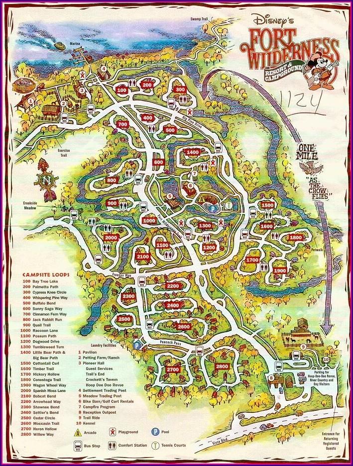 Disney Fort Wilderness Campground Map