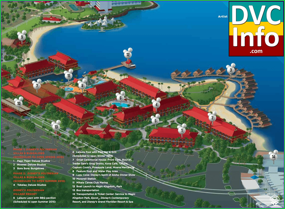 Disney Polynesian Resort Map Dvc