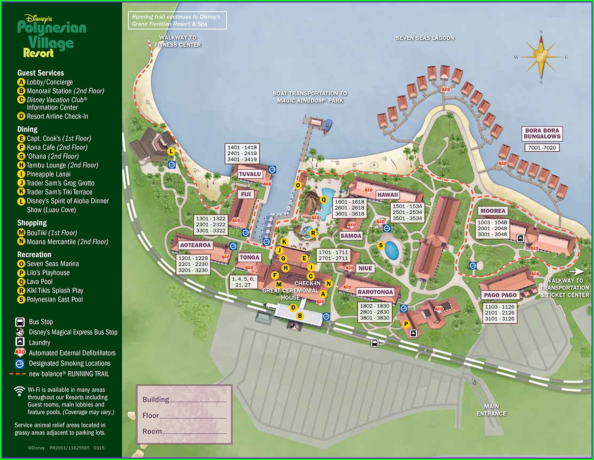 Disney Polynesian Resort Map Pdf