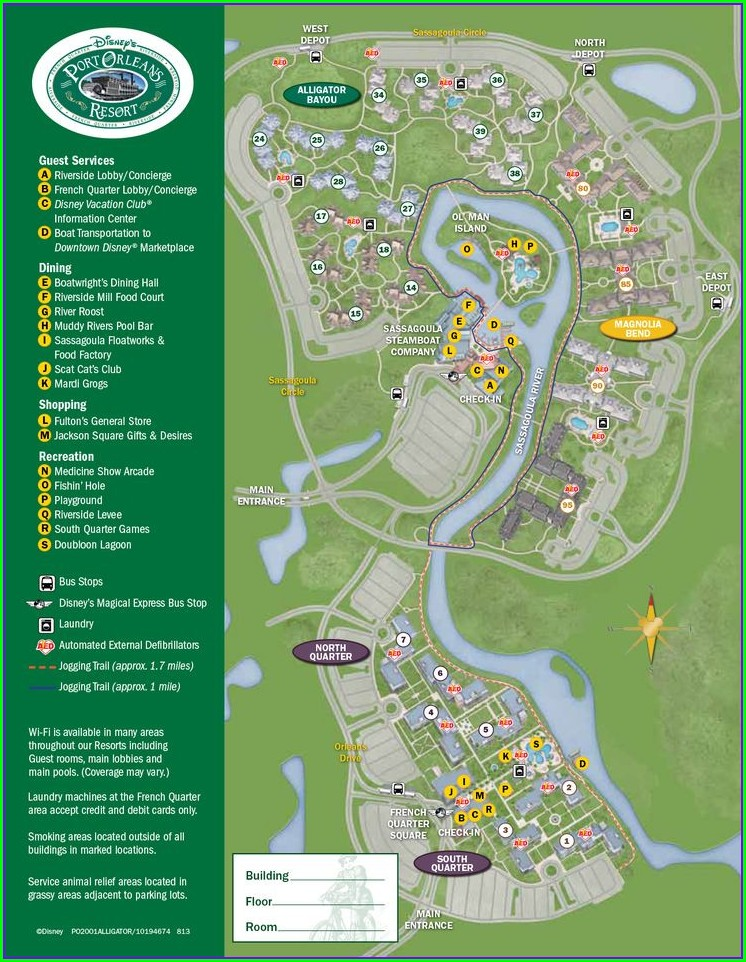 Disney Polynesian Resort Map