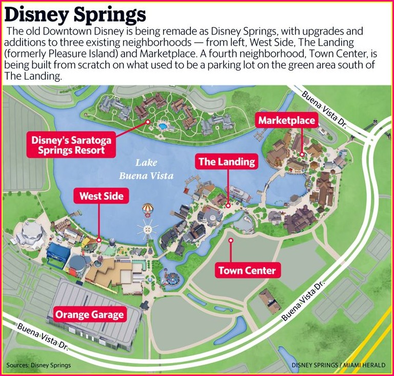 Disney Springs Hotels Map