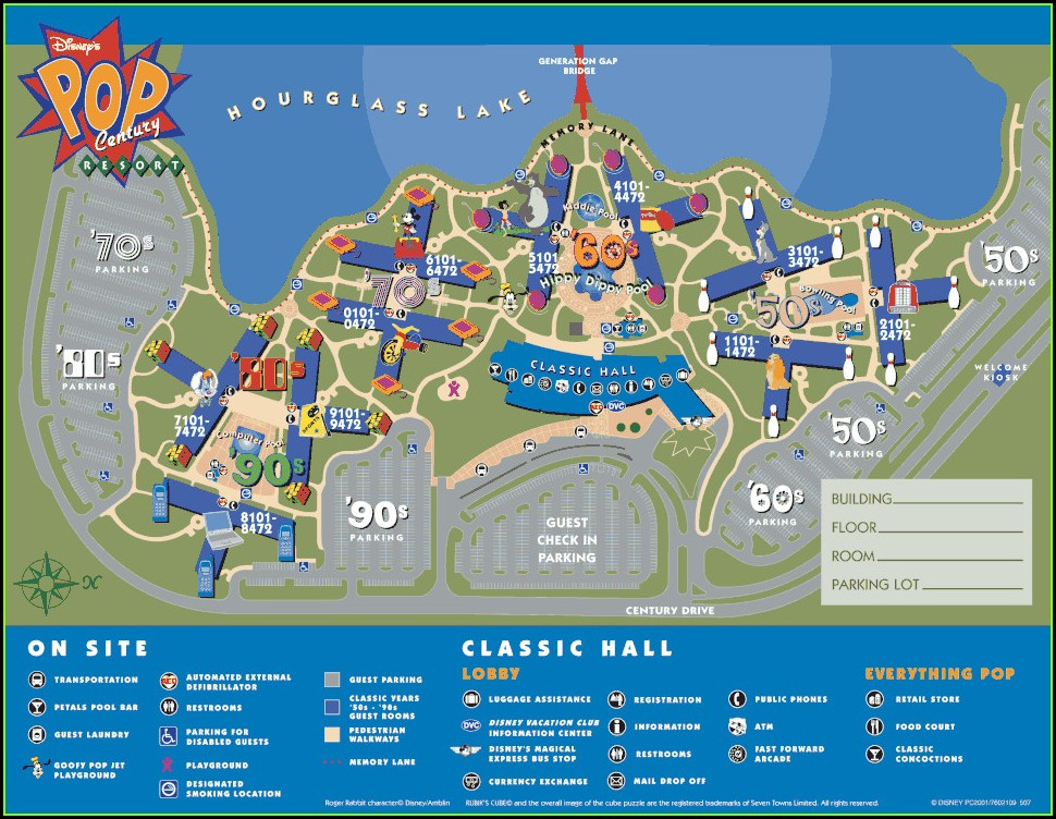 Disney World Saratoga Springs Resort Map
