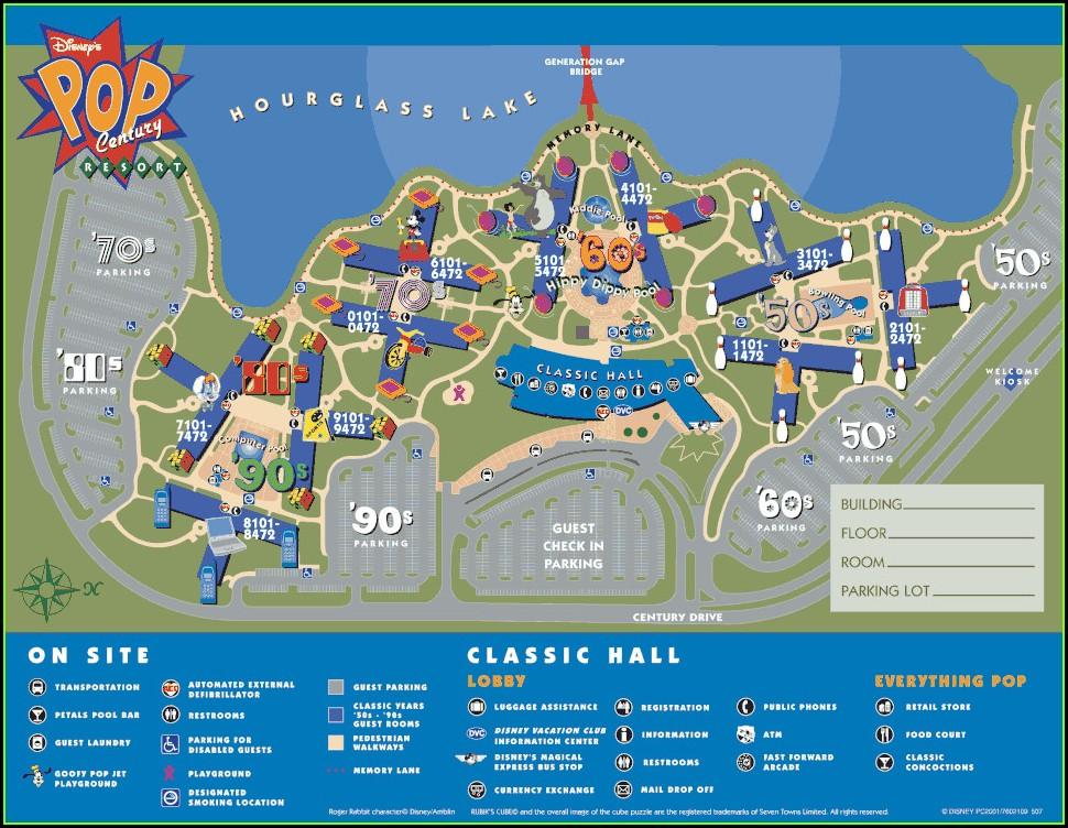 Disney World Saratoga Springs Resort Map