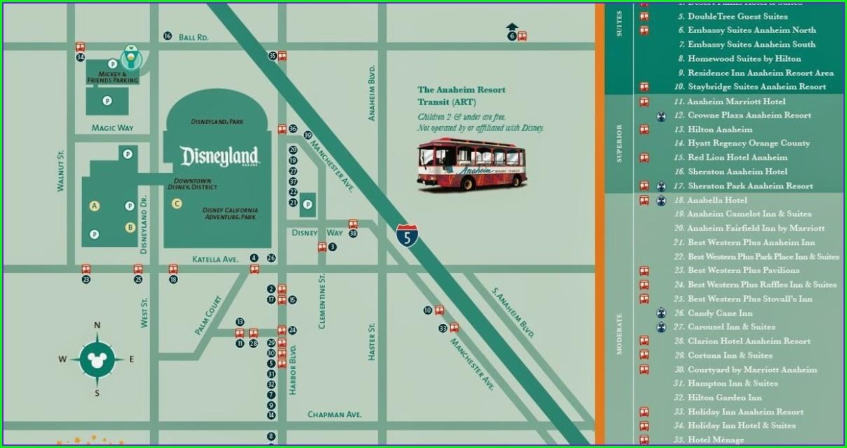 Disneyland Good Neighbor Hotels Map