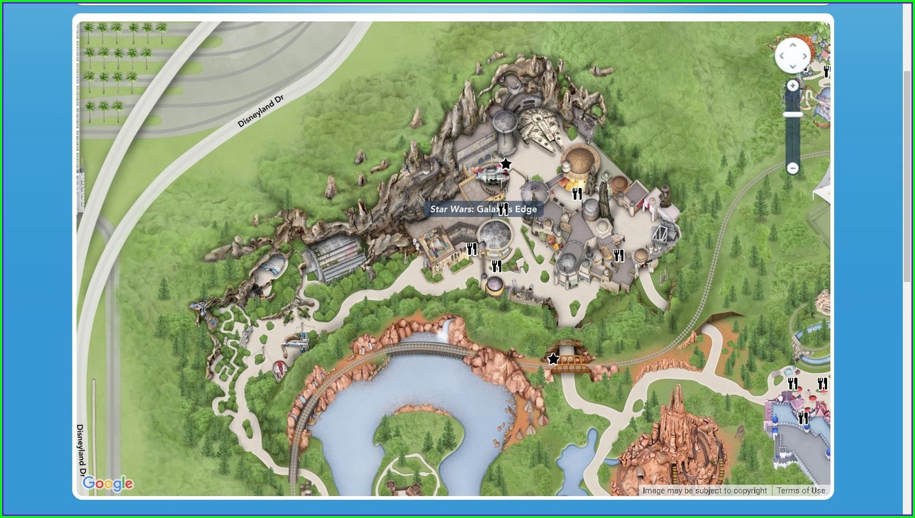 Disneyland Map 2019 With Star Wars Land