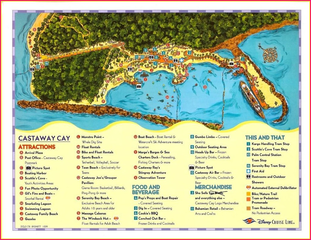 Disneys Island Castaway Cay Map