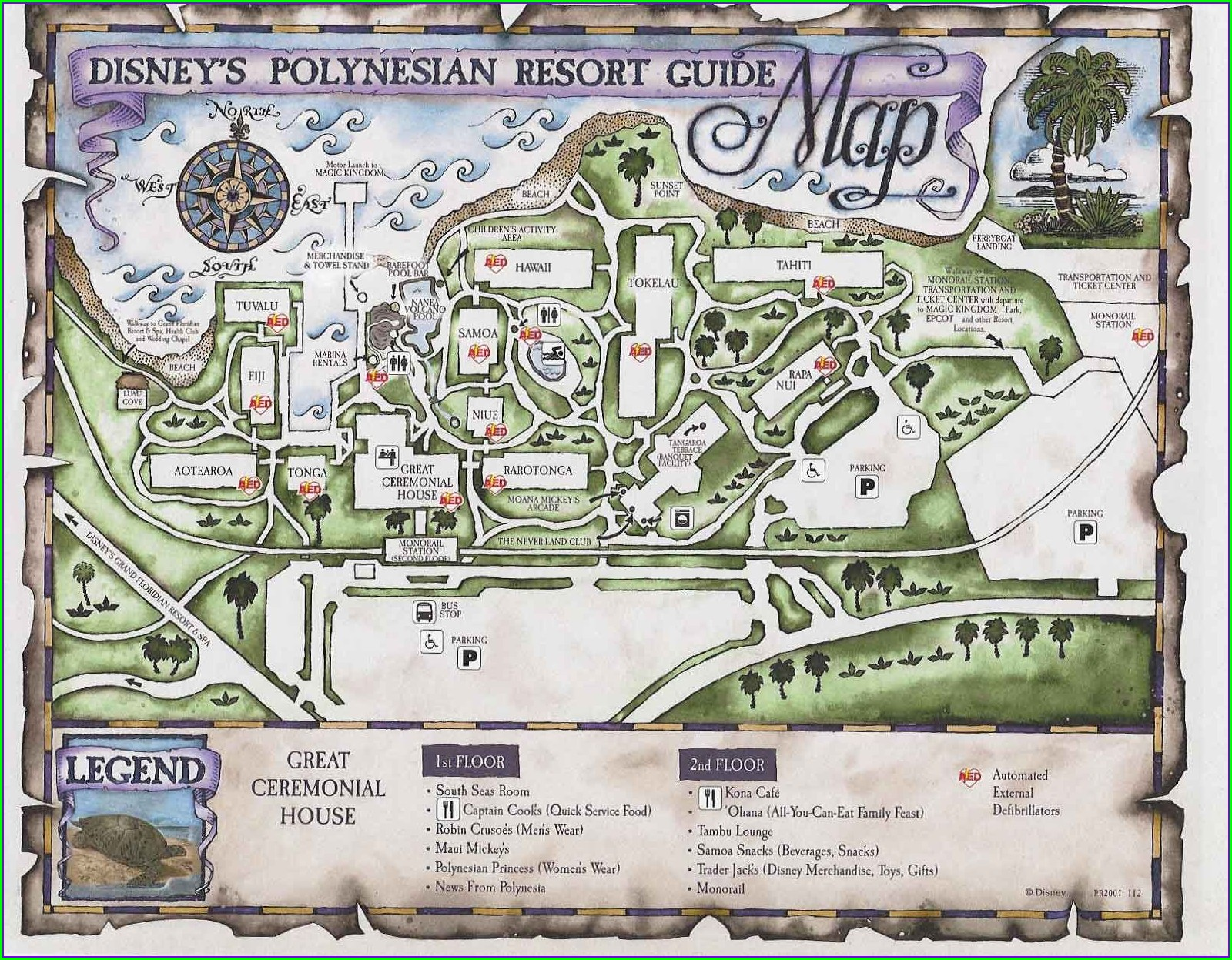 Disneys Polynesian Village Resort Map