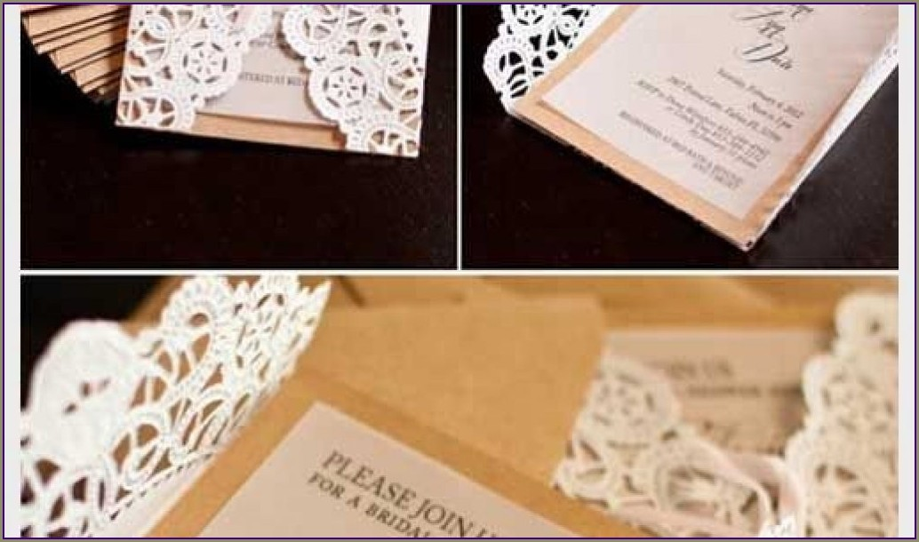 Diy Lace Doily Wedding Invitations
