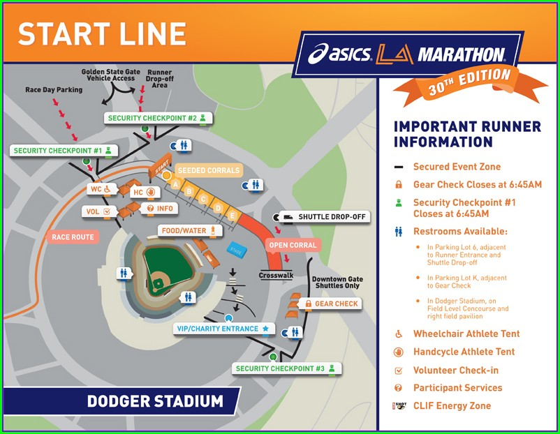 Dodgers Parking Lot Map