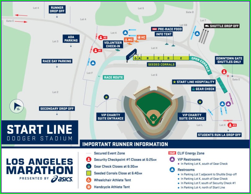 Dodgers Stadium Parking Map