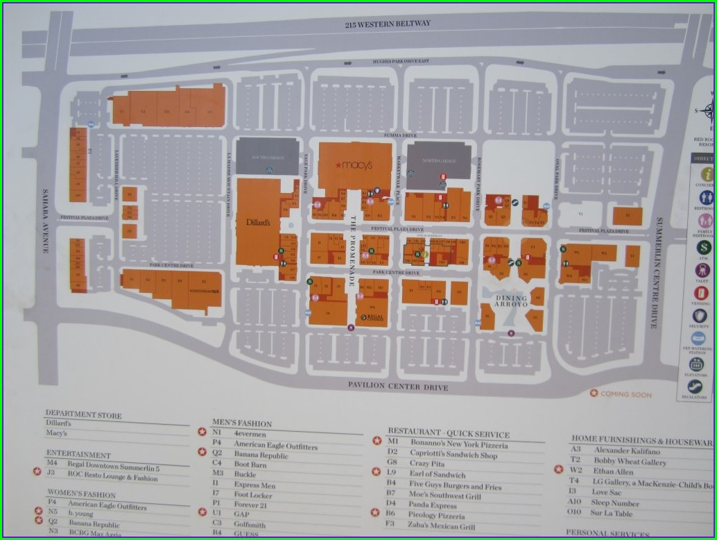 Downtown Summerlin Mall Map