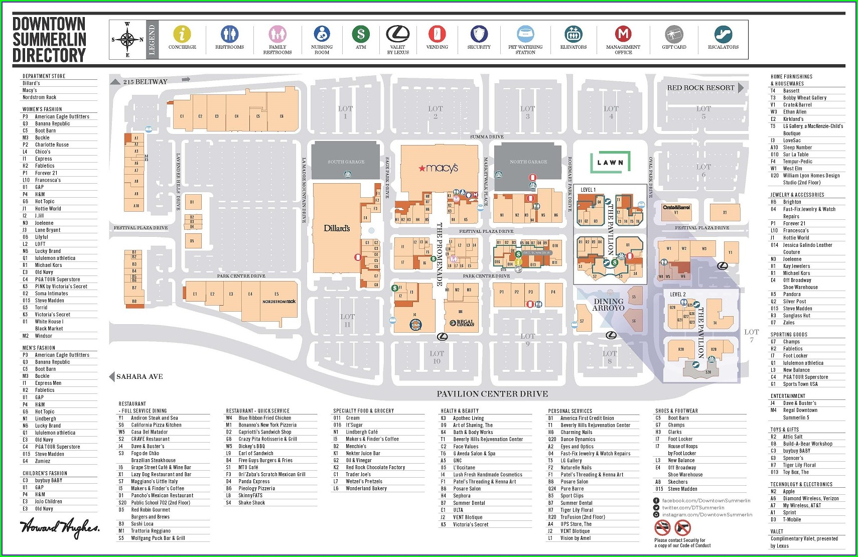 Downtown Summerlin Map Las Vegas