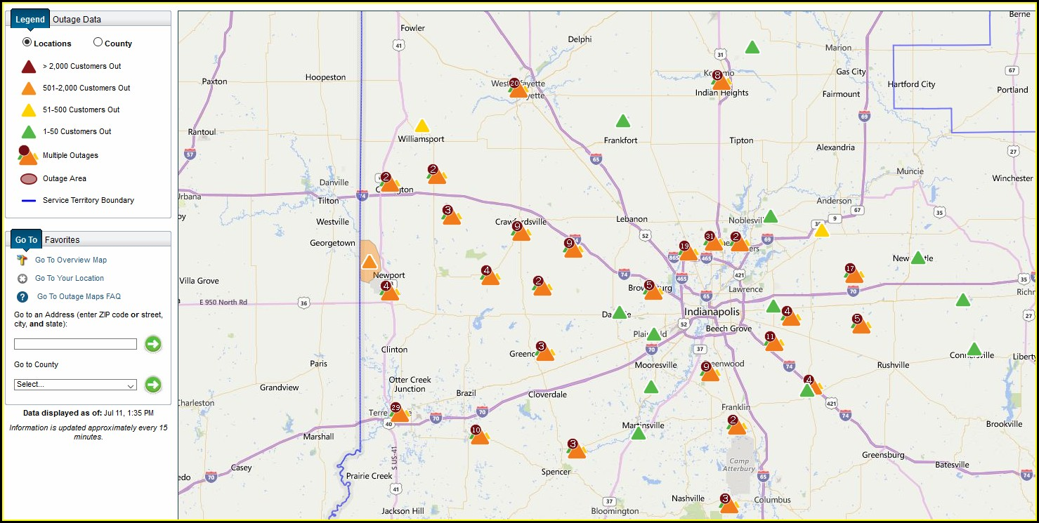 Duke Energy Power Outage Map Cincinnati Ohio