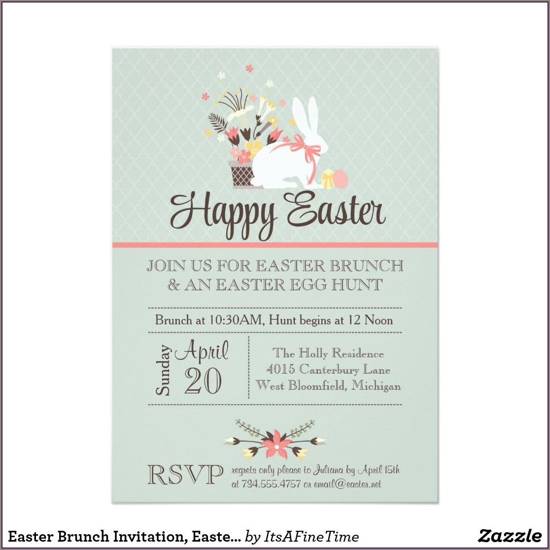 Easter Brunch Invitation Wording