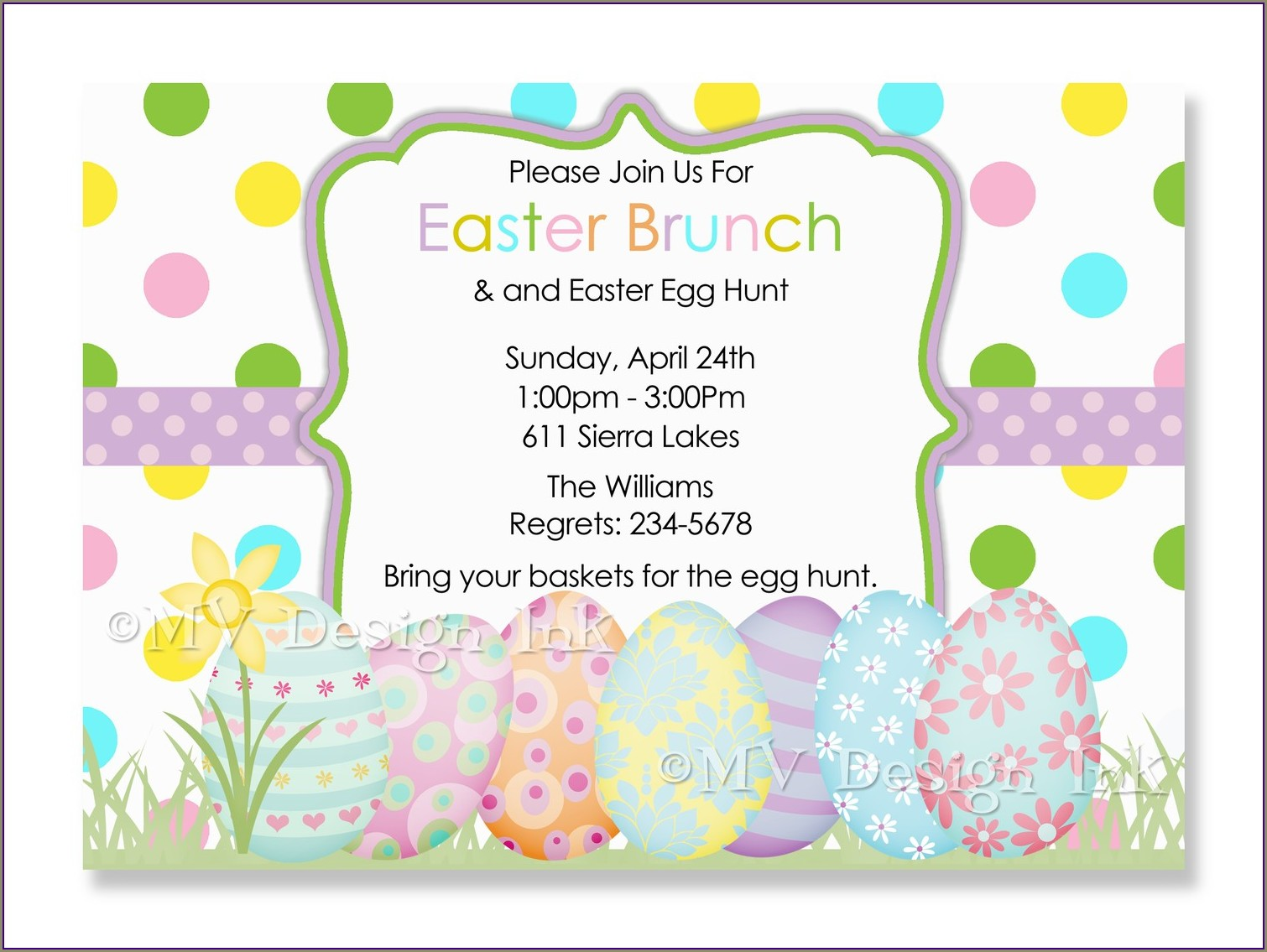 Easter Egg Hunt Invitation Template Free