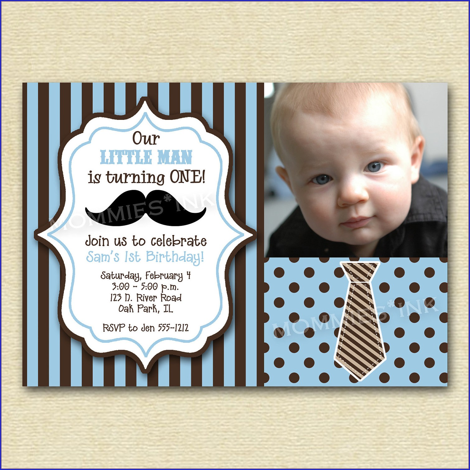 Editable Little Man Invitation Template Free